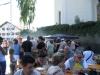 Dorffest 2012 - mittägliche Schlange beim Knöbl