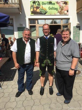 Dorffest 2016 - Franz Wirtensohn, Bürgermeister Müller, Herr Kailberth