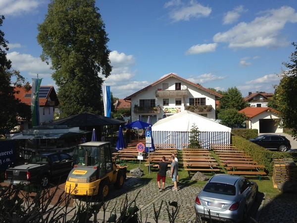 Aufbau Dorffest 2018 Sonntag