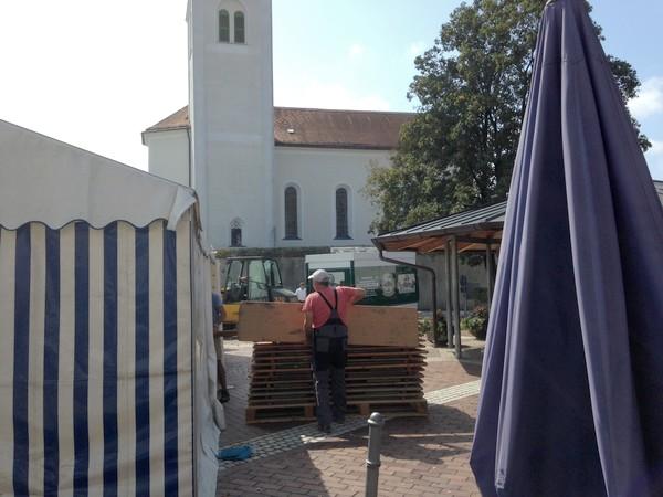 Aufbau Dorffest 2018 Samstag