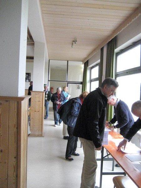 Überprüfung der Stimmberechtigung