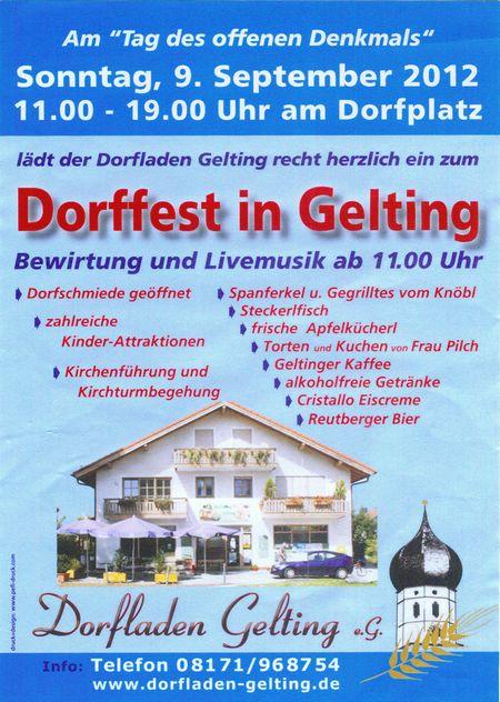 Flyer Dorffest 2012