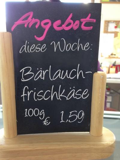 Angebot KW 15 - Bärlauchfrischkäse 100g 1,59€